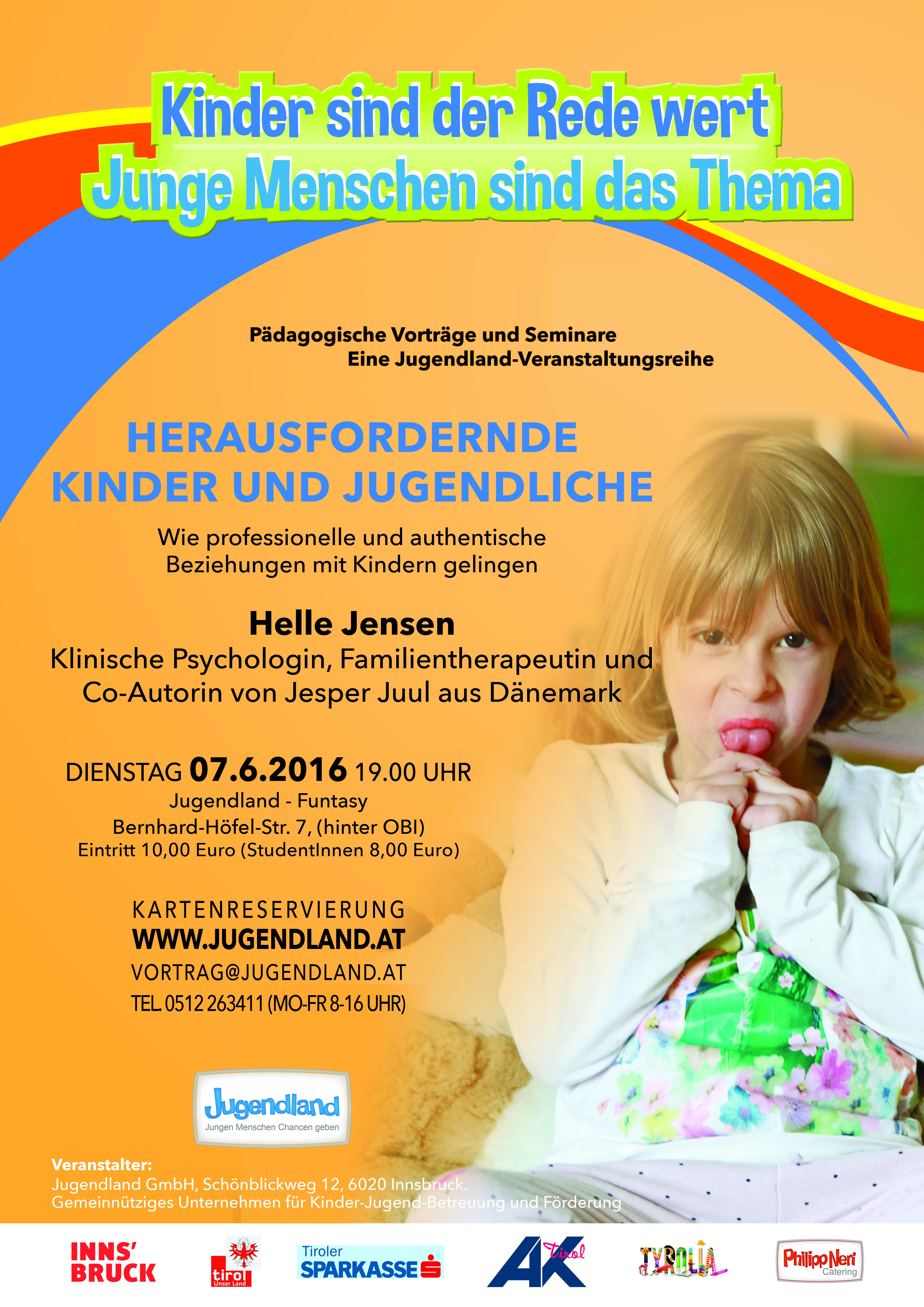A2_Plakat_Kinder sind der Rede wert_2016_Vortrag Jensen